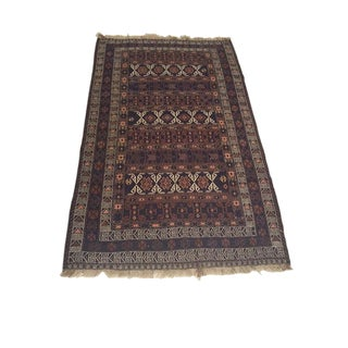 Antique Turkish Soumak Rug - 3′10″ × 6′7″