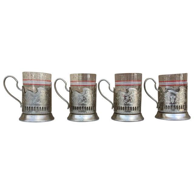 Russian Tea Glasses - Set of 4 - Image 1 of 5
