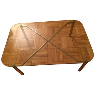 Pace Vintage Aluminum & Glass Coffee Table