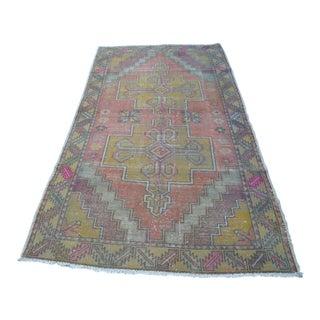 Oushak Anatolian Wool Rug - 4′3″ × 7′8″