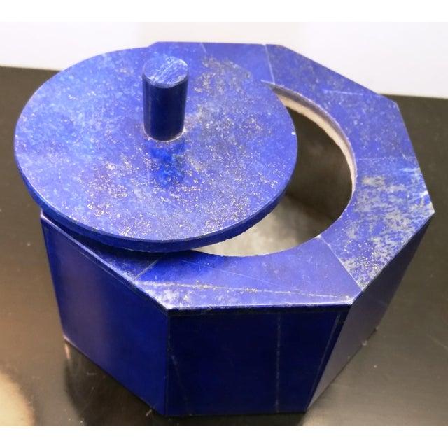 Octagonal Lapis Lazuli Box - Image 3 of 4
