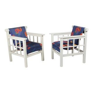 Pair of White Enameled Armchairs, by Pierre Dariel, French, 1920s