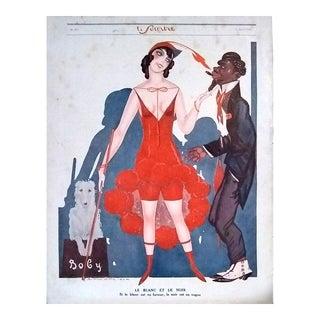"""Sacha Zaliouk 1923 """"Le Blanc Et Le Noir"""" Le Sourire Print"""