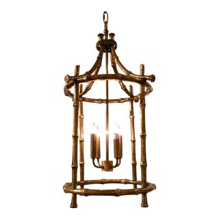 Currey & Co. Brass Bamboo Bansari Lantern Pair Available