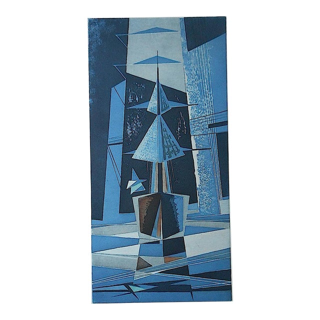 Image of Mid 20th C. Modern Sailboats Etching