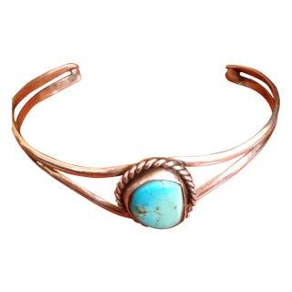 Vintage Navajo Turquoise Sterling Cuff Bracelet