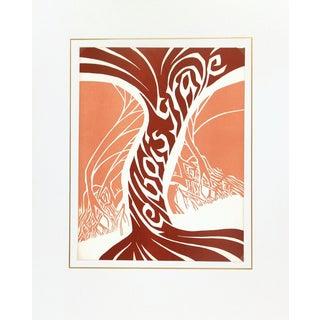 1984 Vintage 'Le Bois Gravé' Woodblock Print