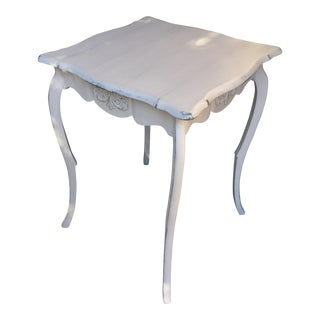 French White Tall Side Table