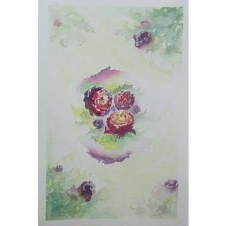 """Roses 1"" Original Watercolor by Celia Agnes"