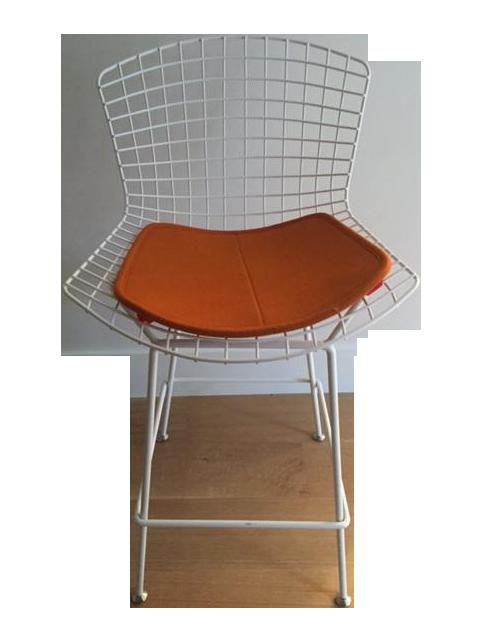 Bertoia Style White Counter Stool Chairish