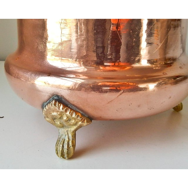 Image of Brass Feet And Handle Copper Planter