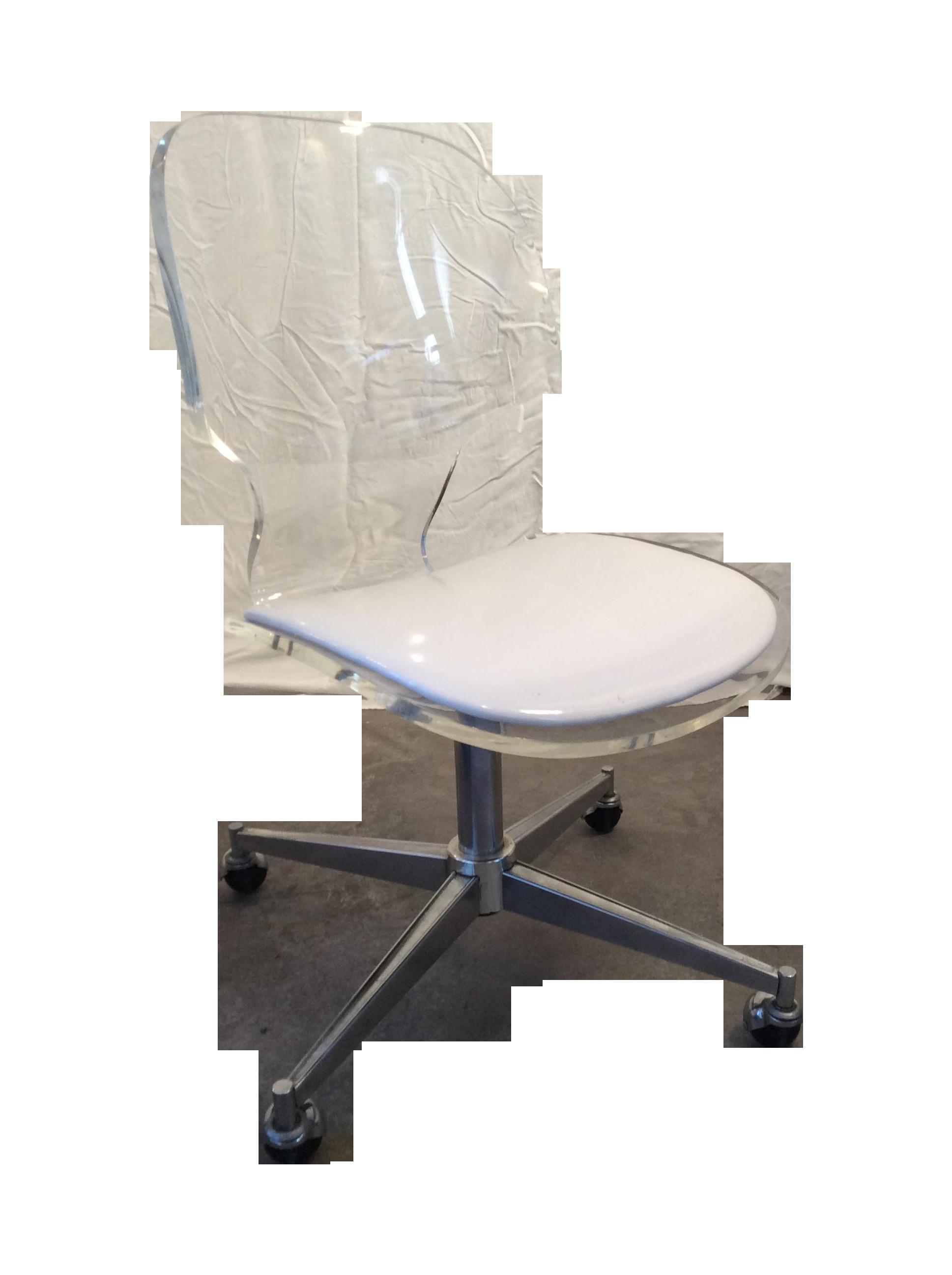 Mid Century Modern Sculptural Lucite Desk Chair