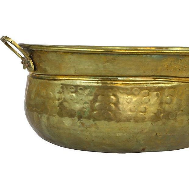 Image of Hammered Brass Cachepot W/ Handles