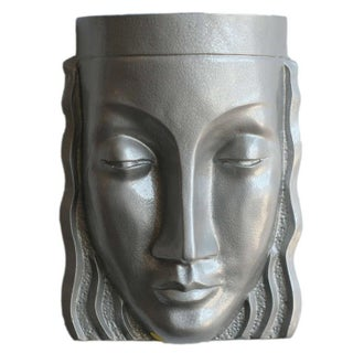 Art Deco Sculptural Female Face Wall Sconce