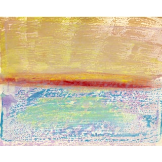 """Rainbow Sea"" Handmade Monotype"
