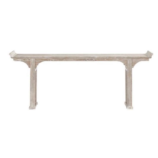 Image of Ballard Designs Ananda Whitewash Elm Console Table