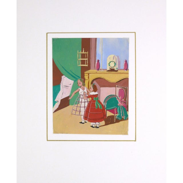 """Mid-Century French """"In the Boudoir"""" Painting - Image 3 of 3"""