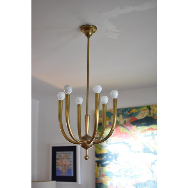 Brass Chandelier With Six Lights - Image 8 of 8