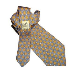 """Vintage Hermes Silk """"Snowflake"""" Tie"""