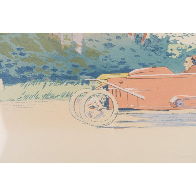 "Image of 1913 Original French Art Deco ""Dedalia Car Race"" Poster"