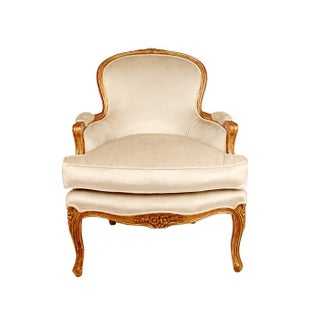 Claire Gilt Wood Louis XV Bergere Armchair