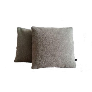 Greige Wool Boucle Pillow Covers - A Pair