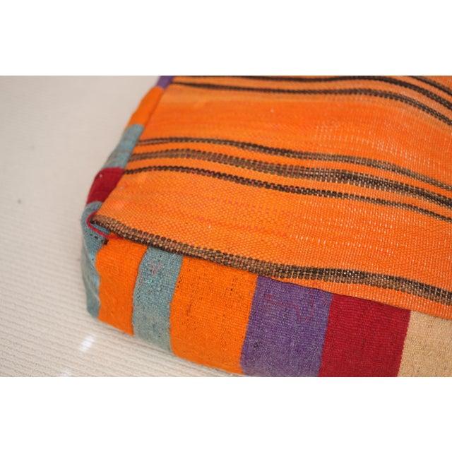 Vintage Moroccan Tribal Floor Pillow - Image 4 of 4