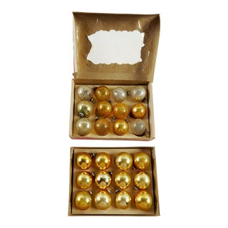 Gold & Silver Vintage Christmas Ornaments - Set of 24