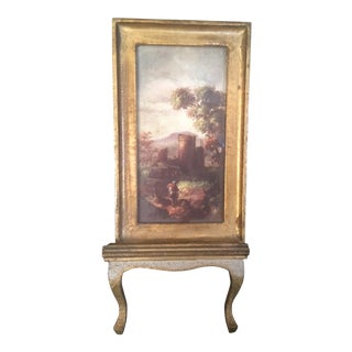 Antique Easel & Historic Picture