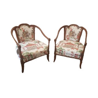 Hollywood Regency Style Chair - a Pair