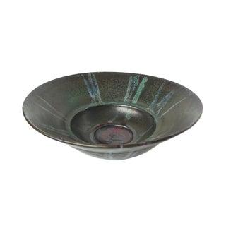 Thom Lussier Stone-Green Ceramic Fruit Bowl