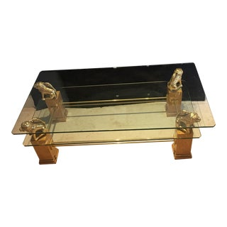 Stunning Foo Dog Biedermeier Chinoiserie Coffee Table