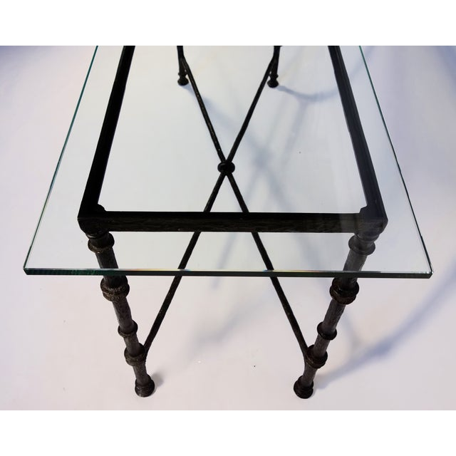 Giacometti Style Wrought Iron Console Table - Image 5 of 8