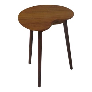 Midcentury Teak Artist Pallet Shaped Side Table