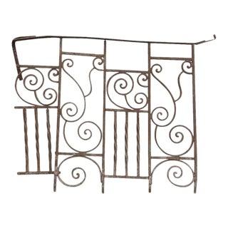 Antique Victorian Iron Gate Window Garden Fence Architectural Salvage