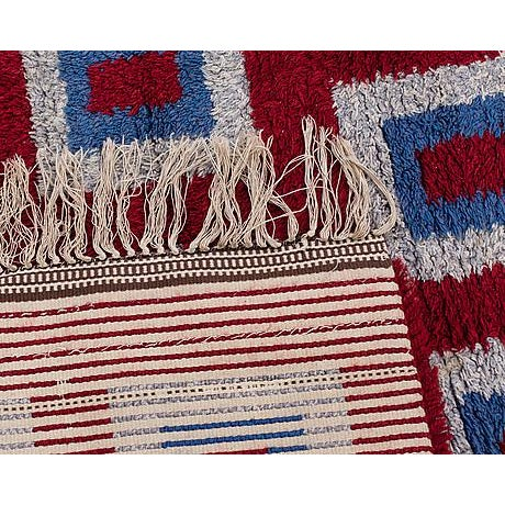 "Swedish Rya Rug - 5'4"" x 7'9"" - Image 3 of 3"