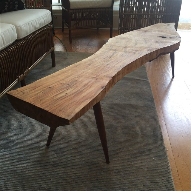 Live Edge Wood Slab Bench or Coffee Table - Image 4 of 9