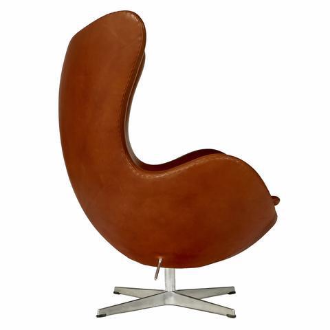 arne jacobsen for fritz hansen leather egg chair image 3 of 10