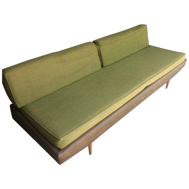 Mid century modern adjustable sofa daybed chairish for Mid century modern day bed