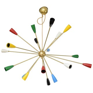Sputnik Chandelier with 18 Shades