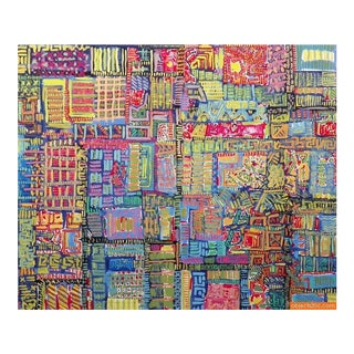 """Large Abstract Painting """"The Bigger Big"""" Ticket by Matt Godwin"""