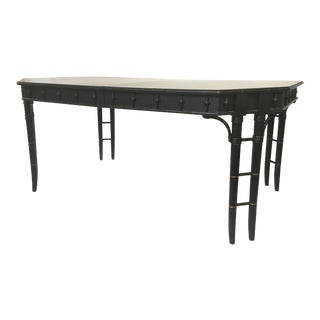 Hollywood Regency Chinese Chippendale Bamboo Dining Table
