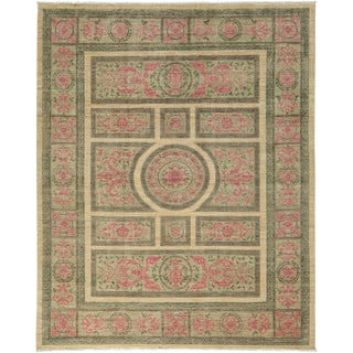 """Suzani, Hand Knotted Area Rug - 8' 2"""" x 9' 10"""""""