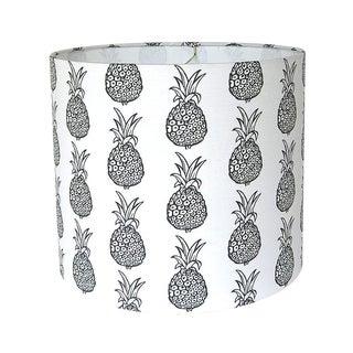 Black & White Pineapple Drum Lamp Shade