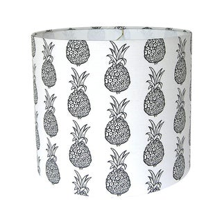 Black & White Pineapple Drum Lamp Shade