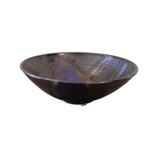 Large Contemporary Black Ceramic Bowl