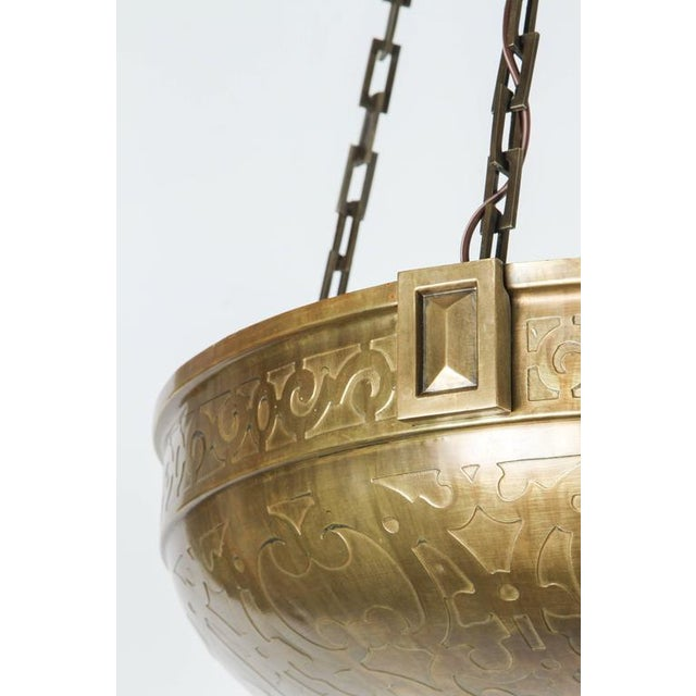 Moorish Style Acid Etched Bowl Fixture - Image 4 of 6