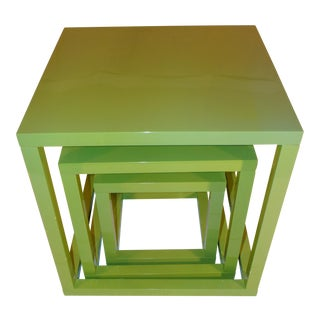 Mid-Century Cubic Nesting Tables - Set of 3