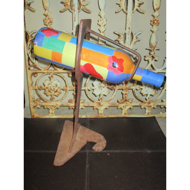 Mid-Century Modern Abstract Sculptural Wood Wine Holder - Image 3 of 11