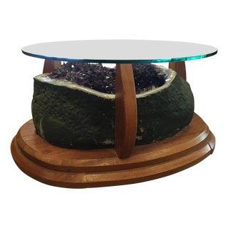 Amethyst Crystal Geode Coffee Table